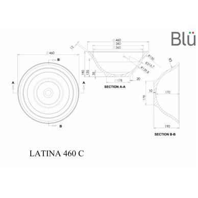 Akmens masės pastatomas praustuvas Blu LATINA 460 2