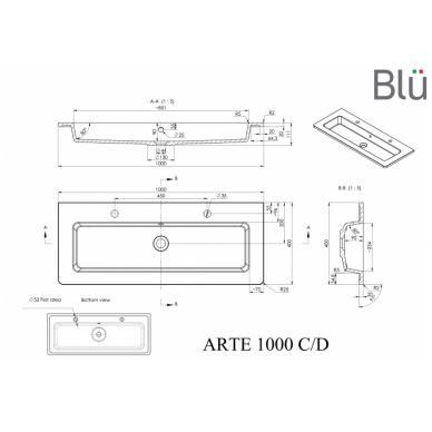 Akmens masės praustuvas Blu ARTE 3