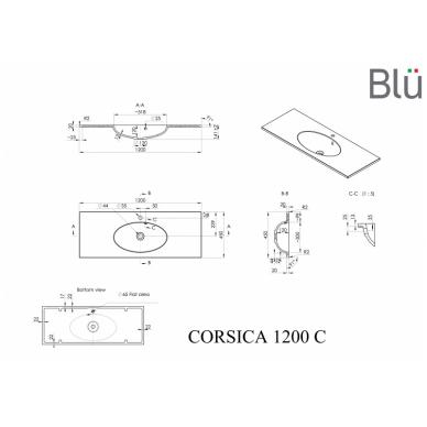 Akmens masės praustuvas Blu CORSICA 4