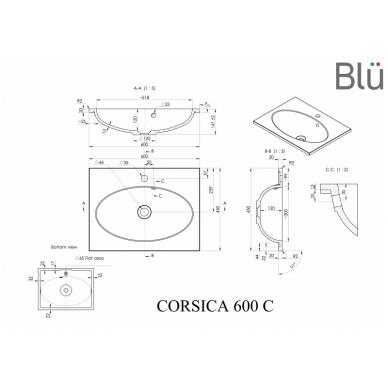 Akmens masės praustuvas Blu CORSICA 2