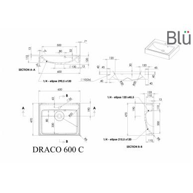 Akmens masės praustuvas Blu DRACO 3