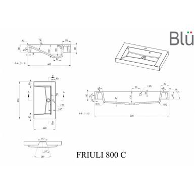 Akmens masės praustuvas Blu FRIULI 5