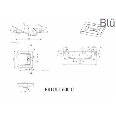 Akmens masės praustuvas Blu FRIULI 4