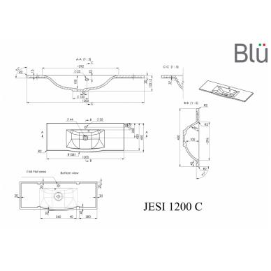 Akmens masės praustuvas Blu JESI 4