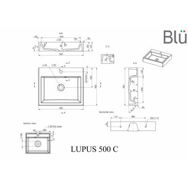 Akmens masės praustuvas Blu LUPUS 4