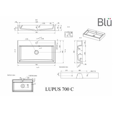 Akmens masės praustuvas Blu LUPUS 5