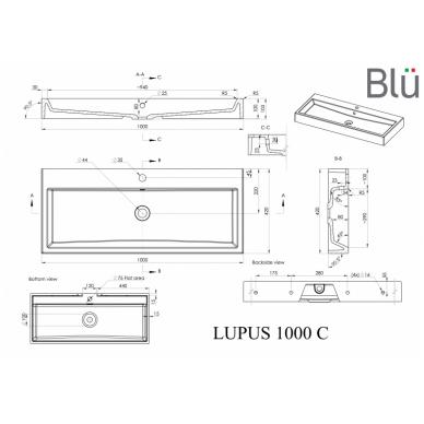 Akmens masės praustuvas Blu LUPUS 6