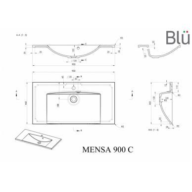 Akmens masės praustuvas Blu MENSA 6