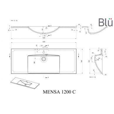 Akmens masės praustuvas Blu MENSA 7