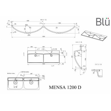 Akmens masės praustuvas Blu MENSA 8