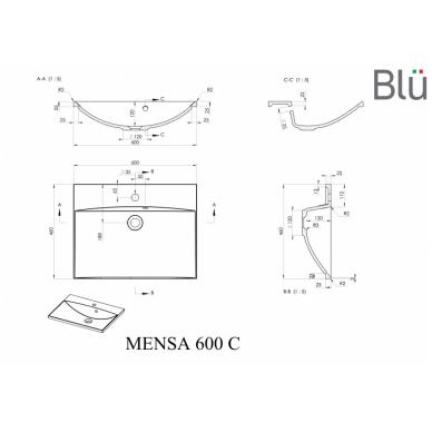 Akmens masės praustuvas Blu MENSA 5