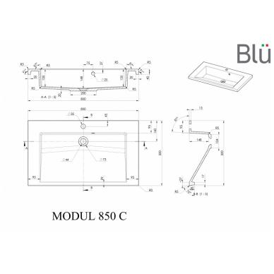 Akmens masės praustuvas Blu MODUL 5