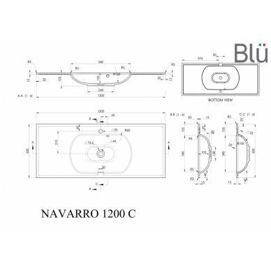 Akmens masės praustuvas Blu NAVARRO 7