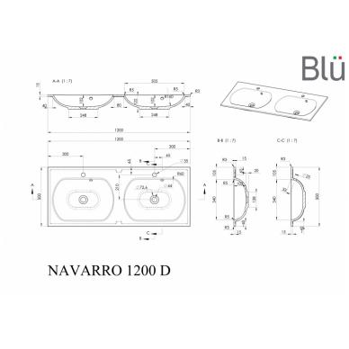 Akmens masės praustuvas Blu NAVARRO 8