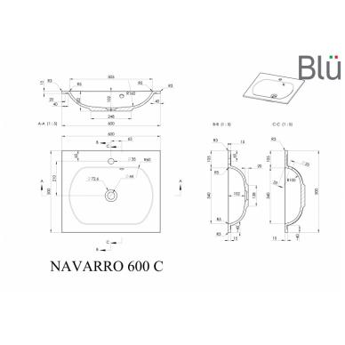 Akmens masės praustuvas Blu NAVARRO 4