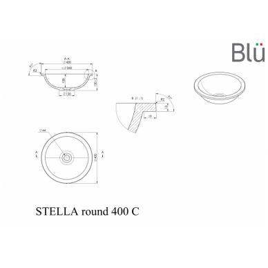 Akmens masės praustuvas Blu STELLA ROUND 460 2