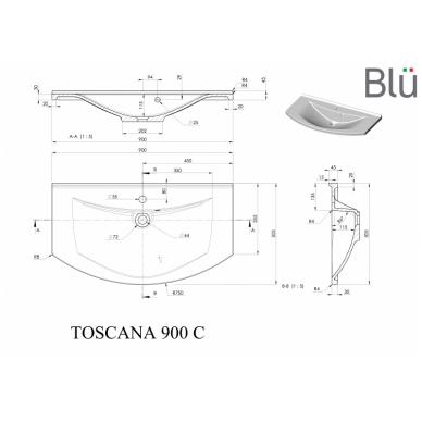 Akmens masės praustuvas Blu TOSCANA 4