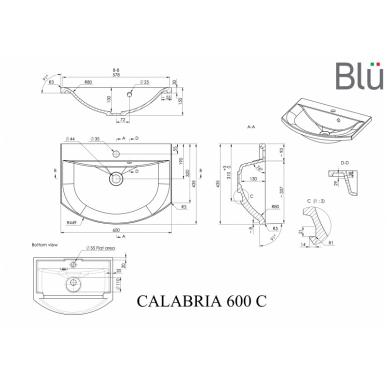 Akmens masės retro praustuvas Blu CALABRIA 3