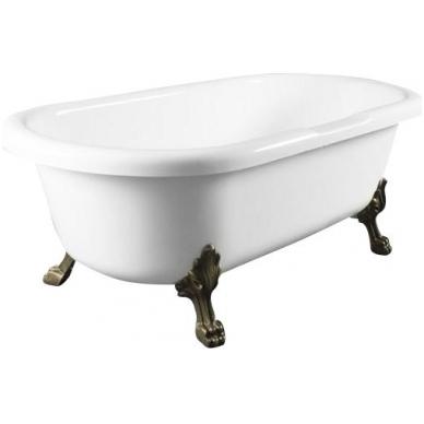 Akmens masės retro vonia Blu CORONA Black/White 1750 2