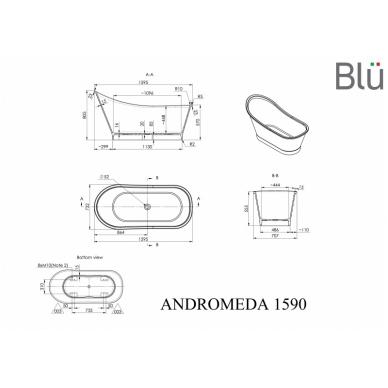 Akmens masės vonia Blu ANDROMEDA 1595 Evermite 2