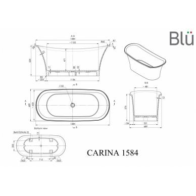 Akmens masės vonia Blu CARINA 1584 Evermite 2
