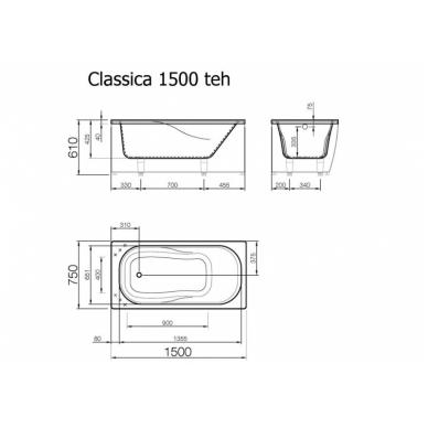 Akmens masės vonia CLASSICA VISPOOL 4