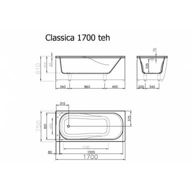 Akmens masės vonia CLASSICA VISPOOL 5
