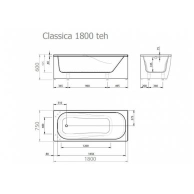 Akmens masės vonia CLASSICA VISPOOL 6