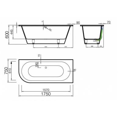 Akmens masės vonia EVENTO 3 VISPOOL 2
