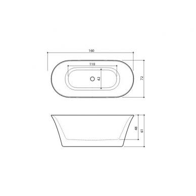 Akmens masės vonia Fiore Balteco 4