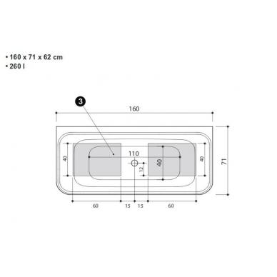 Akmens masės vonia Gamma Balteco 160 6