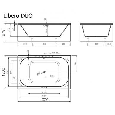 Akmens masės vonia LIBERO DUO VISPOOL 2