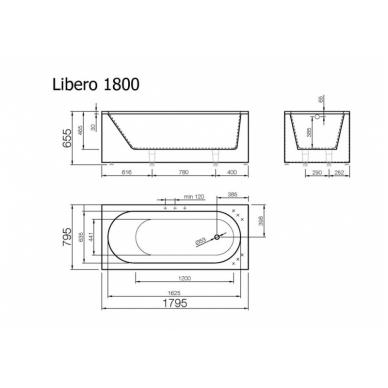 Akmens masės vonia LIBERO VISPOOL 4
