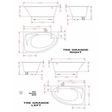 Akmens masės vonia PAA TRE 150x100 2