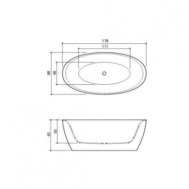 Akmens masės vonia Senzo Balteco 178 5