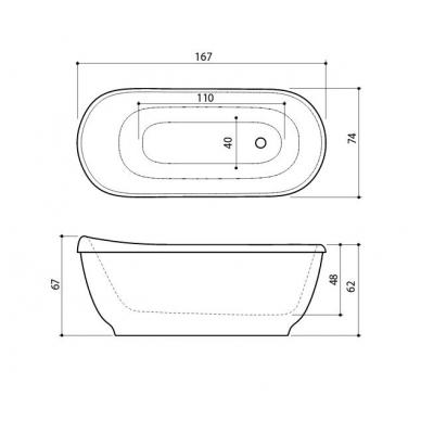 Akmens masės vonia Vero Balteco 167 3