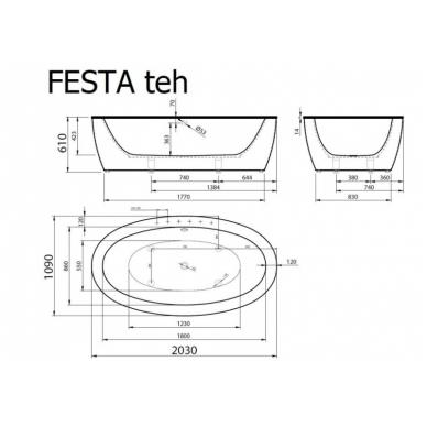 Akmens masės vonia Vispool Festa 2030 3