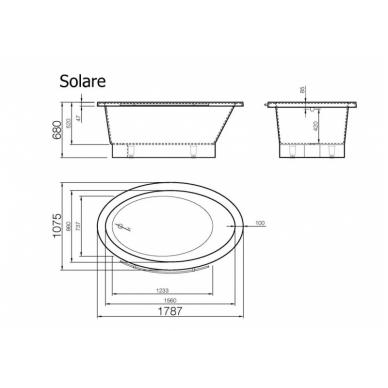 Akmens masės vonia Vispool Solare 1787 3
