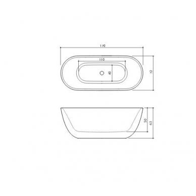 Akmens masės vonia Xonyx Halo Balteco 170 3