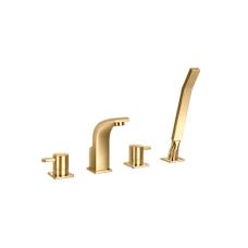 Aukso spalvos maišytuvas montuojamas į vonios kraštą OMNIRES DARLING