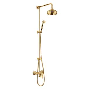Aukso spalvos komplektas dušui OMNIRES ART DECO