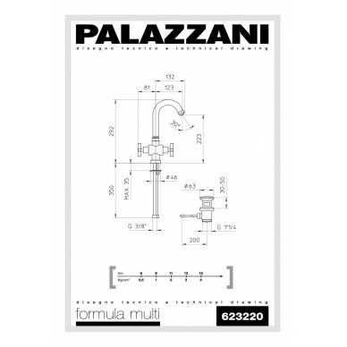 Aukštas maišytuvas praustuvui Formula Multi, Palazzani 2