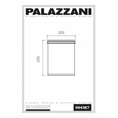 Balta šiukšlių dėžė Palazzani su anti kvapo dangteliu 2