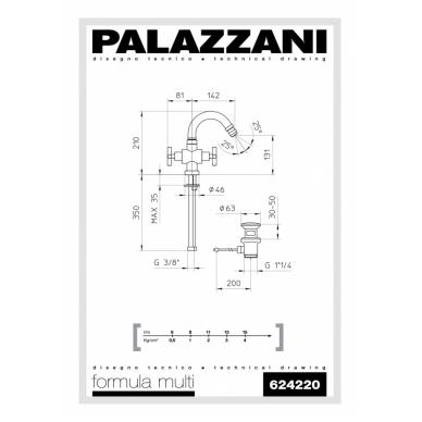 Bide maišytuvas Formula Multi, Palazzani 2
