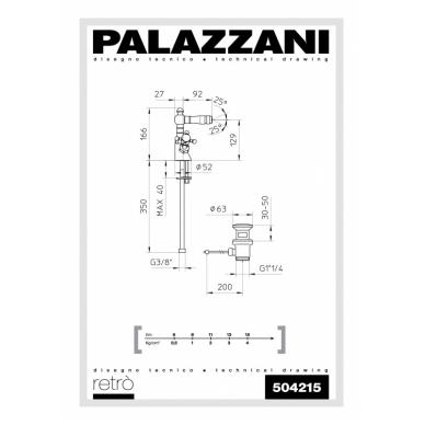 Bide maišytuvas Retro, Palazzani 2