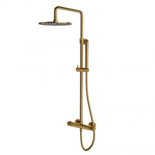 Dušo sistema CONTOUR, termostatinė, šlifuotas (matinis) auksas, Omnires