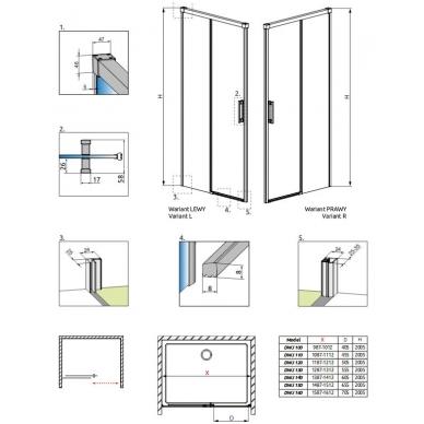 Dušo durys į nišą Radaway Idea DWJ 9