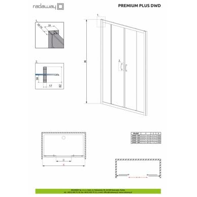 Dušo durys į nišą Radaway Premium Plus DWD 2