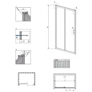 Dušo durys į nišą Radaway Premium Plus DWJ 4