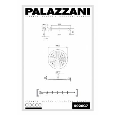 Dušo galva, 300mm, Idrotech 2 Formula Multi Palazzani 2
